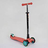 Самокат детский трехколесный со светящимися колесами Best Scooter MAXI 466-113 / А 24439 Терракотовый