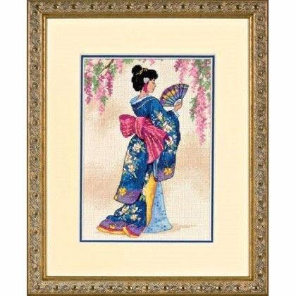 Набор для вышивания крестом «Элегантная Гейша / Elegant Geisha» DIMENSIONS