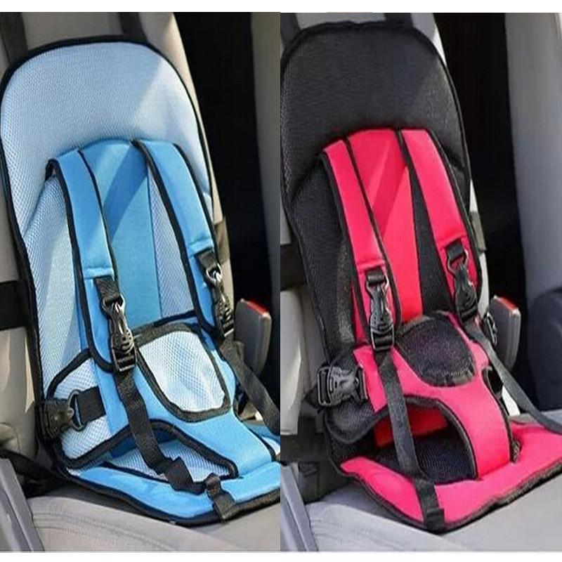 Детское автокресло Child car cushion - бескаркасное автокресло (красное)