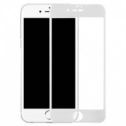 Защитное стекло 10D - для iPhone 6/6S Full Glue 9H (полной оклейки) White