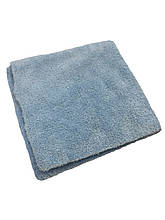 Микрофибровое полотенце - 3D Coral Fleece Microfiber Towel Edge-Less 350 гсм. 40x40 см. голубой (MF350B)