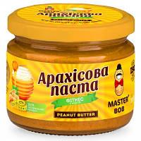 """Арахисовая паста Master Bob - """"Фитнес"""" с медом (300 грамм) классическая"""