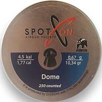 Пули SPOTON Dome 250шт, 4.5 мм, 0.67г