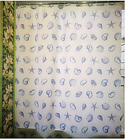 Шторка для ванной с кольцами Miranda STARFISH BLUE (Турция) 180х200 см