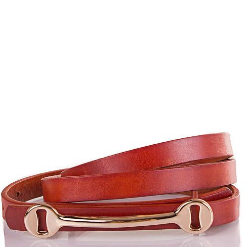 Женский узкий кожаный ремень ETERNO (ЭТЕРНО) ETS5153-10 коричневый