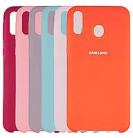 Чехол-накладка Original Silicone case на Samsung Galaxy M20 SM-M205F
