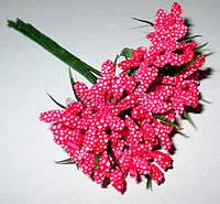 Веточки тычинок с листиками, красный