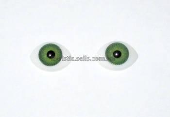Очі для ляльок зелені 16/11 мм