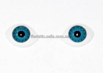 Очі для ляльок блакитні 16/11 мм