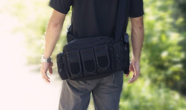Наплечная тактическая сумка-подсумок THUNDER 24