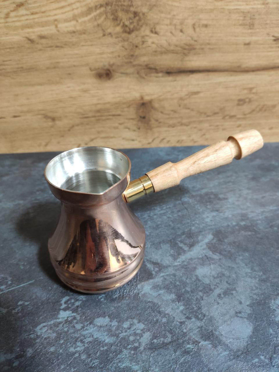 Турка Джезва медная 150мл для молотого кофе