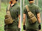 Сумка-слинг (с одной лямкой) тактическая наплечная Protector Plus X216 с отделением для фляги / бутылки, фото 3