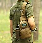 Сумка-слинг (с одной лямкой) тактическая наплечная Protector Plus X216 с отделением для фляги / бутылки, фото 4