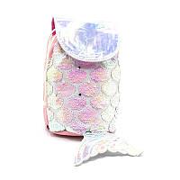 Рюкзак детский с пайетками  pink and white fish