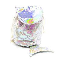 Рюкзак детский с пайетками  white fish