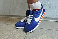 Кроссовки женские Nike Cortez синие с белым (8207-4)  код 588А