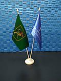 Підставка для прапорців пластикова настільна двухрожковой, фото 3