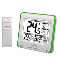 Метеостанция (т-ра на улице и дома, часы, будильник) La Crosse WS6811-White/Green (Франция)