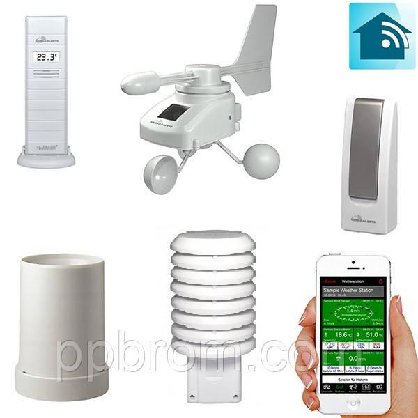 Метеостанция погодная станция для смартфона La Crosse MA10065 Kit Pro-WHI (+ мобильный шлюз) (Франция)