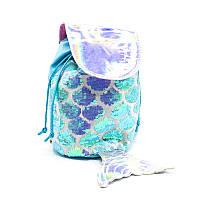 Рюкзак детский с пайетками blue fish