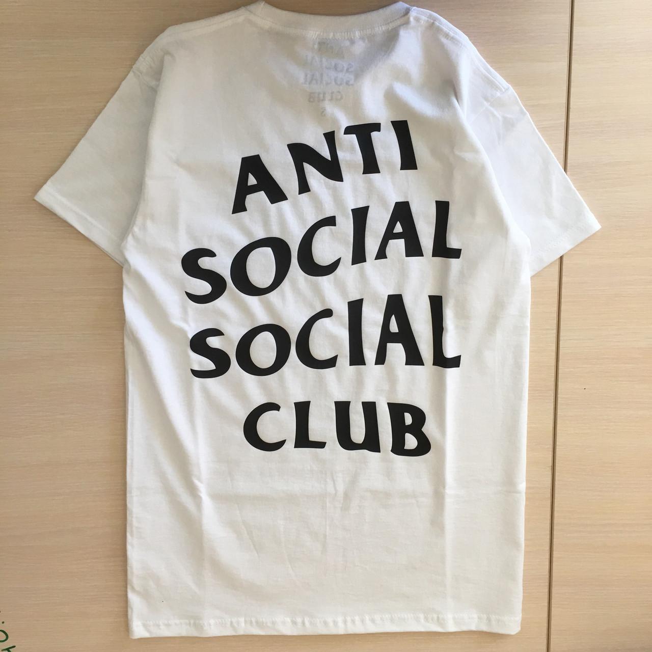 Футболка біла LOYS Anti Social Social Club ASSC classic S