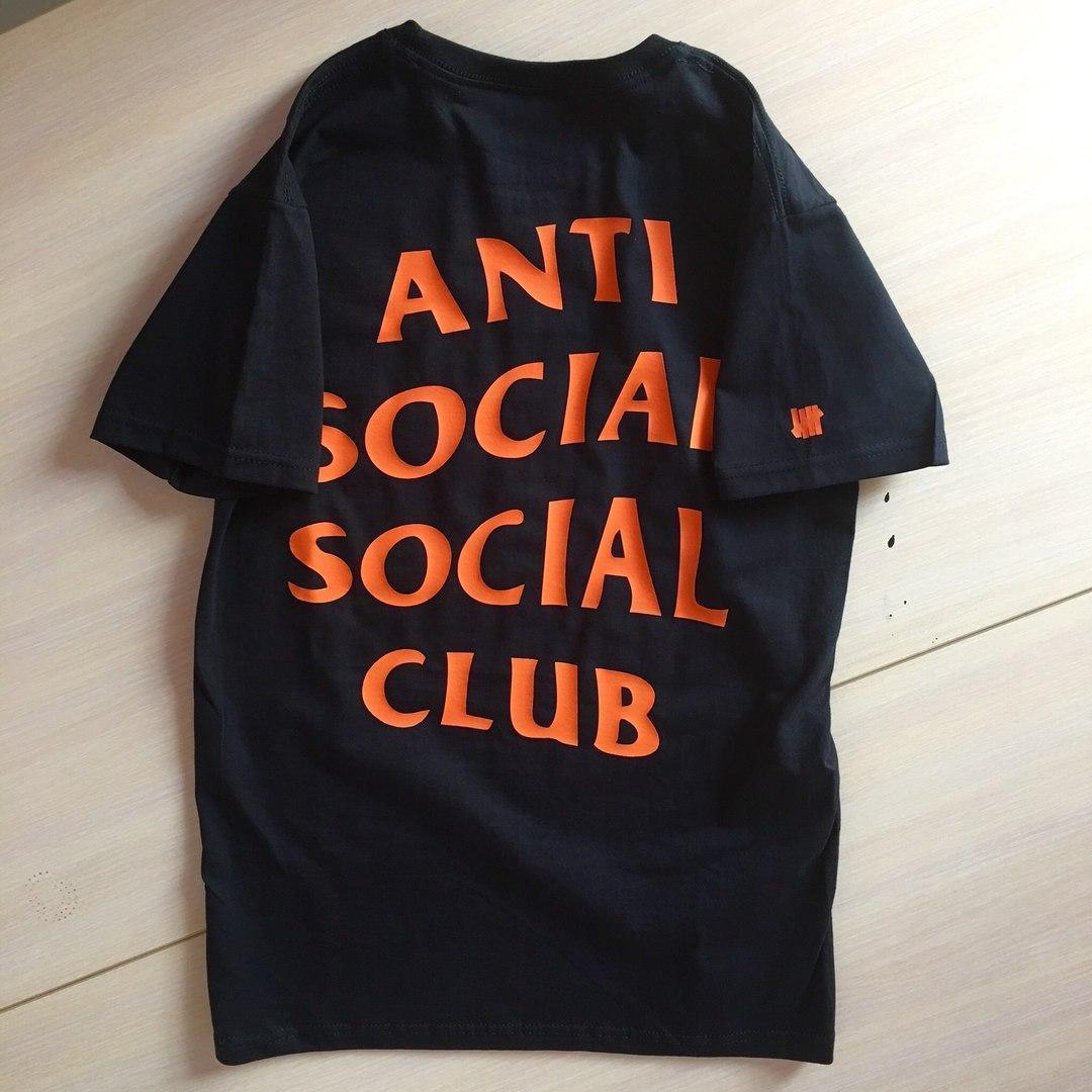 Футболка чорна LOYS Anti Social Social Club ASSC Undefeated Paranoid S