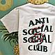 Футболка белая LOYS Anti Social Social Club ASSC snake S, фото 2