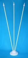 Настольный пластиковый флагшток для 3-х флажков, фото 1