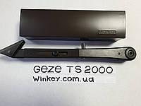 Доводчик дверной GEZE TS 2000 с фиксацией коричневый оригинал Германия