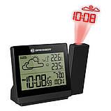 Метеостанция - часы с проекцией на стену Bresser TemeoTrend P black (Германия), фото 2