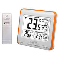 Метеостанция (т-ра на улице и дома, часы, будильник) La Crosse WS6811-White/Orange (Франция)