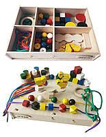 Набір HEGA Монтессорі 3 ускладнений ігровий розвиваючий кольоровий в коробці 46 елементів, фото 1