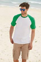 Мужские футболки двухцветные Fruit of the Loom Baseball: 61-026-0