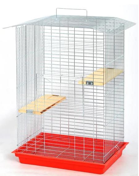 """Клітка """"Шиншила-Люкс"""" цинк для середных гризунив, 56,5*40*85 см"""