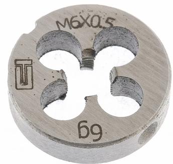 Плашка М6 х 0,5 мм СИБРТЕХ (77015)