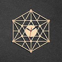 Часы настенные геометричиские Часы в форме линий и точек Подарок учителю геометрии Натуральное дерево 350 мм