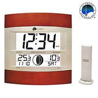 Метеостанция настенная - часы, календарь, фазы Луны La Crosse WS6118IT-S-MAF (Франция)