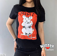 Женская стильная футболка,красивая футболка с разными принтами