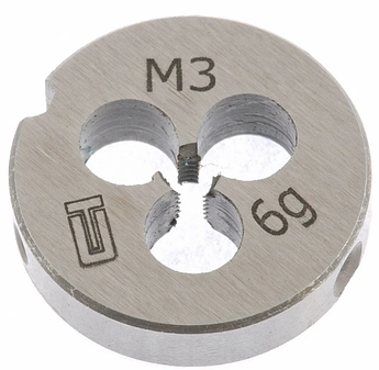 Плашка М3 х 0,5 мм СИБРТЕХ (77005)
