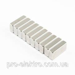 Неодимовий магніт прямокутник 20х10х4 мм