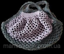 Еко-сумка для покупок сірого кольору