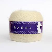 Пряжа с кид мохером и альпакой RABBY Audrey молочная 50г