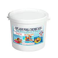 Хлор длительного действия в таблетках для дезинфекции воды в бассейне по 200 г Сплеш 5 кг