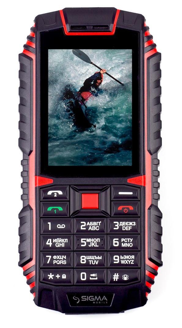 Мобильный телефон Sigma X-treme DT68 Black-red Гарантия 12 месяцев