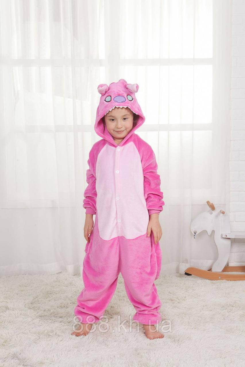 Пижама кигуруми Детские розовый стич