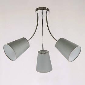 Люстра потолочная на три лампы NM-814297/3 CR BR