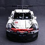 Конструктор серії Techniс Decool (JISI Bricks) Porshe 911 GT3 RSR 1:10 (1580+ Деталей), фото 3