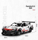 Конструктор серії Techniс Decool (JISI Bricks) Porshe 911 GT3 RSR 1:10 (1580+ Деталей), фото 5