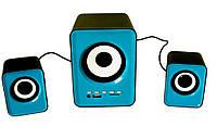 Колонки комп'ютерні FnT SW-201U 220V, сині, фото 1