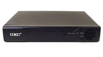 Видеорегистратор для IP камер восьмиканальный UKC DVR 6608 AHD, черный